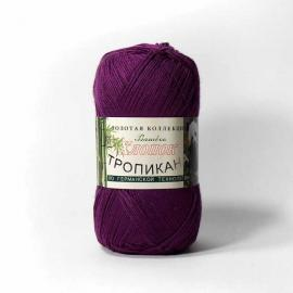 Пряжа Color-City Тропикана - 123 фиолетовый, Цвет: 123 фиолетовый