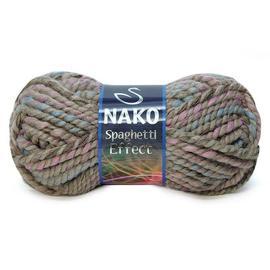 Пряжа Nako Spaghetti Effect - 75714 бежево-розовый меланж, Цвет: 75714 бежево-розовый меланж