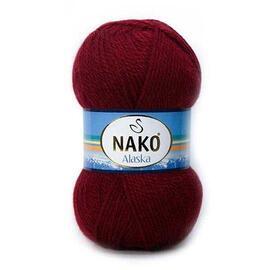 Пряжа Nako Alaska - 10691-7120 бордовый, Цвет: 10691-7120 бордовый