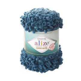 Пряжа Alize Puffy Fine Ombre Batik - 7263 тем.бирюза, Цвет: 7263 тем.бирюза