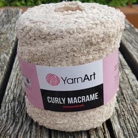 Пряжа Yarnart Curly Macrame - 753 бежевый, Цвет: 753 бежевый