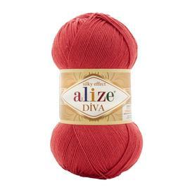 Пряжа Alize Diva - 366 гранатовая роза, Цвет: 366 гранатовая роза