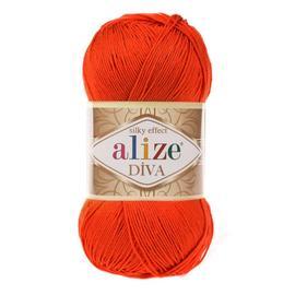 Пряжа Alize Diva - 37 оранжевый, Цвет: 37 оранжевый