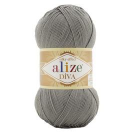 Пряжа Alize Diva - 87 серый, Цвет: 87 серый