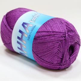 Пряжа Seam Anna Twist - 327 лиловый, Цвет: 327 лиловый