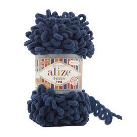 Пряжа Alize Puffy Fine - 93 синий, Цвет: 93 синий