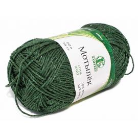 Пряжа Камтекс Мотылек - 110 зеленый, Цвет: 110 зеленый