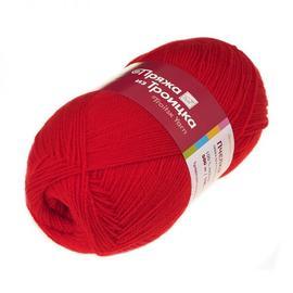 Пряжа Троицкая Пчёлка - 88 красный мак, Цвет: 88 красный мак