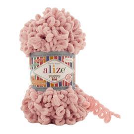 Пряжа Alize Puffy Fine - 340 св.розовый, Цвет: 340 св.розовый