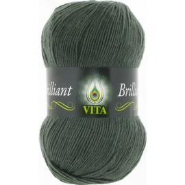 Пряжа Vita Brilliant - 5124 темно-зеленый, Цвет: 5124 темно-зеленый