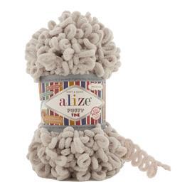 Пряжа Alize Puffy Fine - 599 слоновая кость, Цвет: 599 слоновая кость
