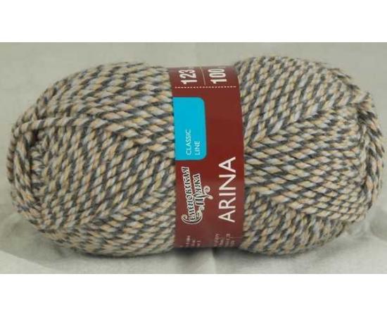 Пряжа Семеновская АРИНА ПШ 7439 мозаика779 (песочно-серый), Цвет: 7439 мозаика779 (песочно-серый)
